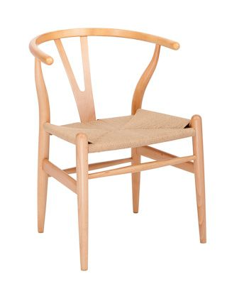 Replica Wishbone Chair (Beech) - Solid Timber - Natural Cord Seat